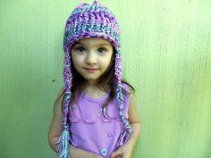 Loom Knit Earflap Hat Pattern van ErinLowmaster op Etsy