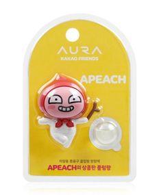 Kakao Talk Friends Cute Character Ver2 Car Vent Clip Air Freshener Apeach #KAKAOFRIENDS