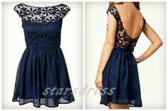 Hey, I found this really awesome Etsy listing at https://www.etsy.com/listing/193776657/custom-make-navy-blue-chiffon-lace-short
