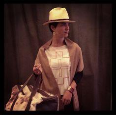 KATARI Andes Clothes Pima Cotton Tshirt; Calma Chicha Leather Bag