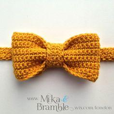 Articoli simili a Crochet Bow Tie, Boys Stylish Bow Tie, Vintage Inspired Bowtie su Etsy - alternatives. Crochet Hair Accessories, Crochet Hair Styles, Crochet Stitches, Knit Crochet, Crochet Patterns, Crochet Bow Ties, Bowtie Pattern, Dog Bows, Crochet For Boys