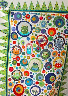 Free Range Quilting - Custom Long Arm Quilting This s sooo kewl LOL 3d Quilts, Applique Quilts, Baby Quilts, Circle Quilts, Quilt Blocks, Longarm Quilting, Machine Quilting, Toddler Quilt, Custom Quilts