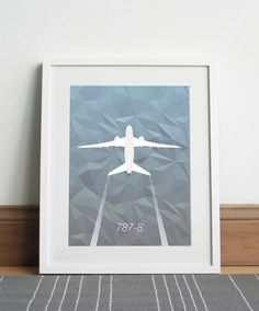 Boeing 787-8 Aircraft - Digital download by Sketch22uk on Etsy