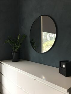 Mirror mirror on the wall Painted with Jotun Minerals St.Pauls Blue