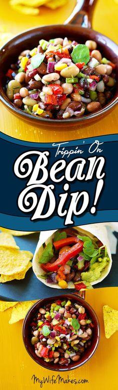Delicious mixed bean dip in a tangy dressing. Perfect on salads, in a wrap or scooped up with corn chips. #delicious #vegan #beandip #veggiewrap #veganrecipe