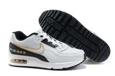 Mens Nike Air Max LTD Shoes White Black Gold CJvQe