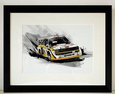Audi Quattro Rally Car Illustration