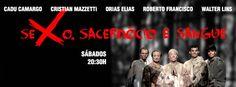 """A peça """"Sexo, Sacerdócio e Sangue"""" ganha temporada no espaço Encena entre os dias 1º de março e 26 de abril. A entrada é Catraca Livre."""