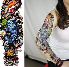 Sleeve fake tattoo, Tattoo, Temporary Tattoo, Tattoo Sticker, Sticker #faketattoo#Tattoo#TemporaryTattoo#TattooSticker#Sticker #TemporaryTattoo Fake Tattoo Sleeves, Temporary Tattoo Sleeves, Sleeve Tattoos, Real Tattoo, Fake Tattoos, Tattoo Stickers, Tatuajes Tattoos, Ink Transfer, Body Art