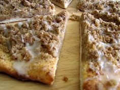 Godfather's Cinnamon Streusal Dessert Pizza. Looks similar to what you can get at CiCi's Pizza. Yummy!!!