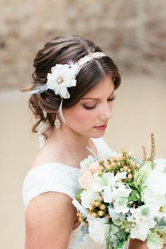 Another wonderful #hairstyle for the #vintage or #boho bride {Beauty and the Beach}