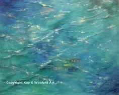 Water Magic 24 x 30 acrylic painting