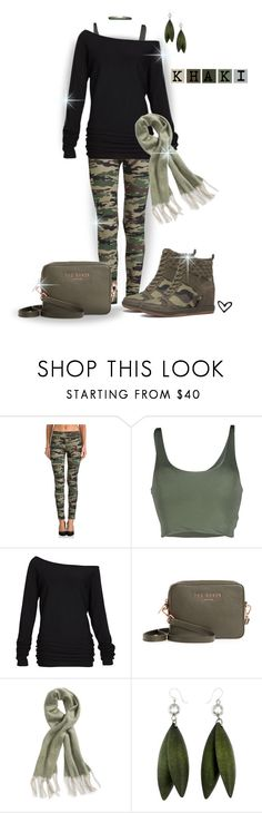 """~ShoeDazzle~ Kay Camo Wedge Sneaker ~"" by justwanderingon ❤ liked on Polyvore featuring Plush, Roque, Alloy Apparel, Ted Baker, Free People, camo, wedgesneaker and offtheshoulder"