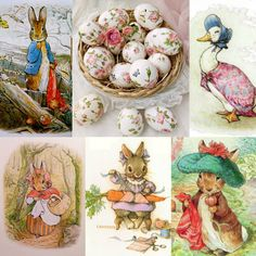 Beautiful Pictures with a English, Victorian, Scottish and Irish twist victorian irish ireland Happy Easter Beatrix Potter bunny love. www.ouwbollig.eu  https://www.facebook.com/ouwbollig.eu