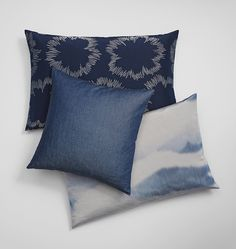 INTO THE BLUE cushions by SAHCO