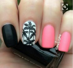 50 Unique & Trendy Nail Art Ideas That You Will Love! - Nail Designs and Ideas - Pepino Nail Art Fancy Nails, Cute Nails, 3d Nails, Acrylic Nails, Palm Tree Nail Art, Nails 2016, Beach Nails, Hawaii Nails, Florida Nails