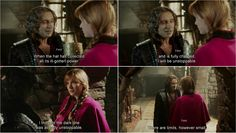 """When the hat has collected all it's ill-gotten power and is fully charged , I'll be unstoppable."" Rumple and Anna - 4*4 ""The Apprentice."""