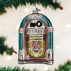 f037daa61 Old World Christmas Jivin' Jukebox Glass Ornament 38046