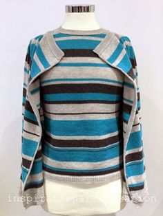 Machine Knitting: striped twin set