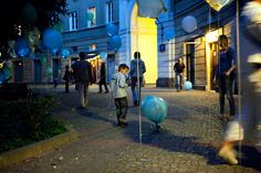 luzinterruptus  A Colorful Art Exhibit Inflates Garbage Bags to Teach About Recycling