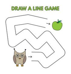 Game Children Maze Vector Images (over - Page 2 Logic Games For Kids, Activity Games For Kids, Mazes For Kids, Educational Games For Kids, Cartoon Owl Drawing, Frog Drawing, Writing Practice For Kids, Christmas Maze, Cartoon Butterfly