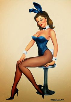Pin up Bunnies by Fiona Stephenson : Pin Up and Cartoon Girls