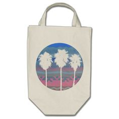 Palms Trees in Aztec Sunset Shopping Bag