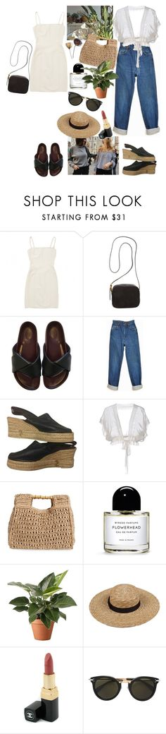 """garden state"" by rsussher ❤ liked on Polyvore featuring Hervé Léger, The Row, Wrangler, Kenzo, Philosophy di Alberta Ferretti, San Diego Hat Co., Byredo, Chanel and CÉLINE"