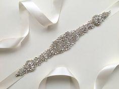 Rhinestone Crystal Wedding Sash Rhinestone Wedding by lacetime
