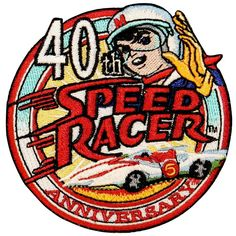 Racer X Head Patch Car Mifune Speed Racer Mach 5 Shooting Star Embroidered