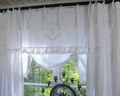 Wunderbar Details Zu Raff Gardine CRYSTAL NY WEISS 140x90 Spitze Bestickt LillaBelle  Rollo Curtain