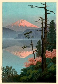 Fuji from Taganoura  by Ito Yuhan  (published by Nishinomiya Yosaku)