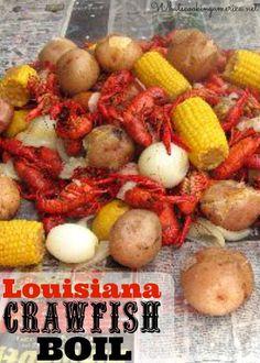 Louisiana Crawfish Boil recipe  | whatscookingamerica.net  | #louisiana #crawfish #boil