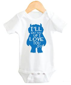 Baby Boy Cute Where the Wild Things Are Ill by LittleAdamandEve, $14.99 #littleadamandeve #babyboy #heartbeat