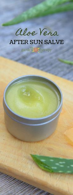 Even if you don't have a sunburn, this after-sun salve recipe is a summer necessity to re-hydrate and soothe sun-kissed skin. Homemade After-Sun Salve Recipe After Sun, Salve Recipes, Sun Lotion, Body Lotion, Homemade Beauty Products, Natural Products, Body Products, Lush Products, Beauty Recipe