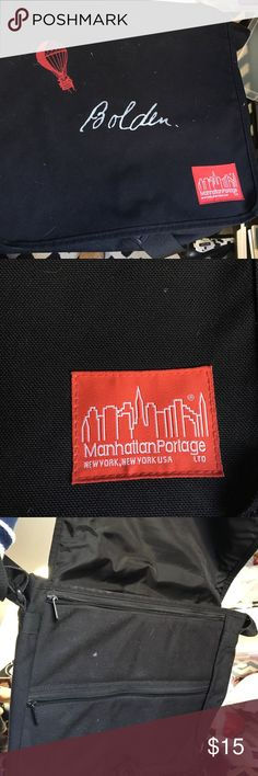 Manhattan Portage messenger bag /computer case Padded computer messenger bag by NYC company manhattan portage. Really trendy brand manhattan portage Bags Laptop Bags