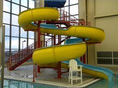 Christiansburg Aquatic Center slide at the Leisure pool side. #Christiansburg