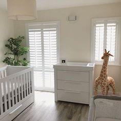 A nursery of dreams created & ready for a little babys safe arrival. Wishing you and your family the very best Safari Nursery, Pure White, Shutters, Babys, Cribs, Dreams, Bed, Furniture, Home Decor