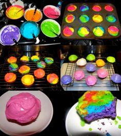 rainbow cuppies.