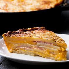 Cheesy Potato Cake Recipe by Tasty