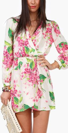 Orchid wrap dress: More like knee length for me  other than that I very much love it!