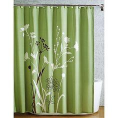 Amazon.com: Beautiful Green Brown Bird Nature Modern Flower Fabric Shower Curtain: Home & Kitchen