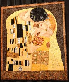 The Kiss: An Homage to Gustav Klimt by The Sewbot