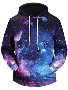 """HOT PRICES FROM ALI - Buy """"Mr.BaoLong brand men's fashion funny galaxy printed hooded hoodies men and women poket hooded sweatshirts for only USD. Zip Up Hoodies, Hooded Sweatshirts, Mode Streetwear, Streetwear Fashion, Galaxy Hoodie, Sports Hoodies, Galaxy Print, Bleu Marine, Tumblr Outfits"""