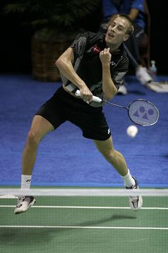 Peter Gade - Badminton.He is one of the all time most successful Danish men's singles players with a number of major tournament wins, more World Cup medals and ten DM titles.