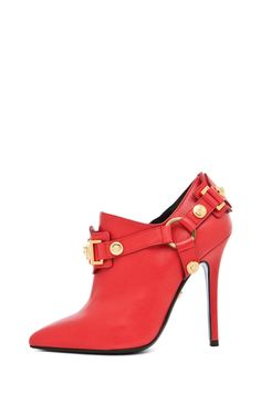 VERSACE  Harness Bootie in Red