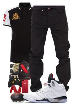 """""""Untitled #90"""" by crenshaw-m4fia ❤ liked on Polyvore featuring Polo Ralph Lauren, Salvatore Ferragamo, Ralph Lauren Black Label, Chrome Hearts, Rocawear, NIKE, men's fashion and menswear"""