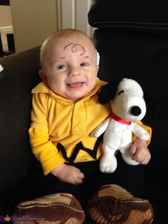 Charlie Brown DIY Baby Halloween Costume.  Tara I need a yellow long sleeve shirt.  this is going to be kylers costume.