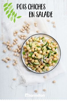 Une recette facile et rapide de salade healthy aux pois chiches et au concombre ! Pour manger sain en se faisant plaisir cet été :) #recettemarmiton #marmiton #recette #recettefacile #recetterapide #faitmaison #ideesrecettes #inspiration #poischiche #concombre #salade #healthy Low Carb Food List, Low Carb Recipes, Cooking Recipes, Healthy Recipes, Salade Healthy, Recipe Girl, Food Stamps, Happy Foods, Food Lists