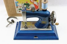 Vintage 1940s German Casige Toy Sewing Machine by RiverRatAntiques